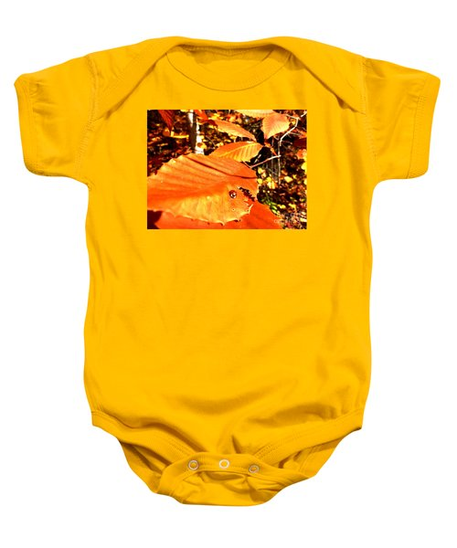 Ladybug At Fall Baby Onesie