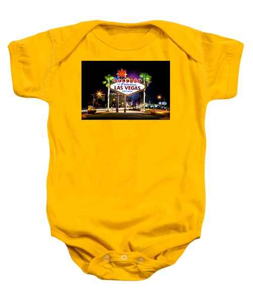 Las Vegas Sign Baby Onesie