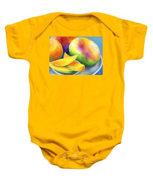 Last Mango In Paris Baby Onesie by Stephen Anderson
