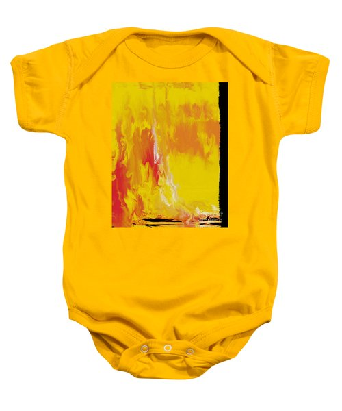 Lemon Yellow Sun Baby Onesie by Roz Abellera Art
