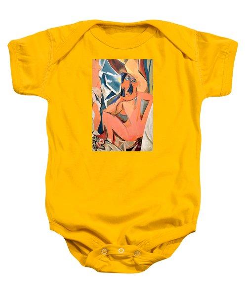 Les Demoiselles D'avignon Picasso Detail Baby Onesie