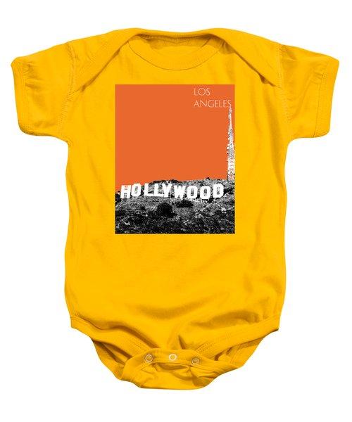 Los Angeles Skyline Hollywood - Coral Baby Onesie