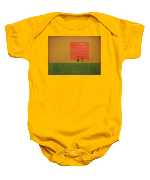 Man On The Brink Baby Onesie