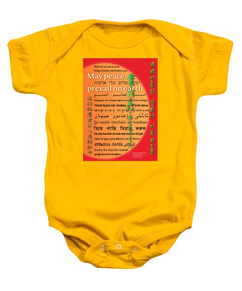 May Peace Prevail On Earth Baby Onesie