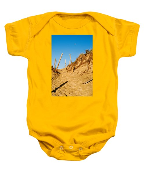 Moon And Dunes Baby Onesie