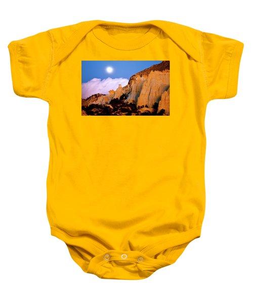 Moonrise Over The Kaiparowits Plateau Utah Baby Onesie