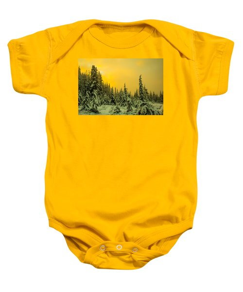 Mountain Sunrise Baby Onesie