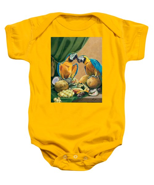 Mr And Mrs Parrot Baby Onesie