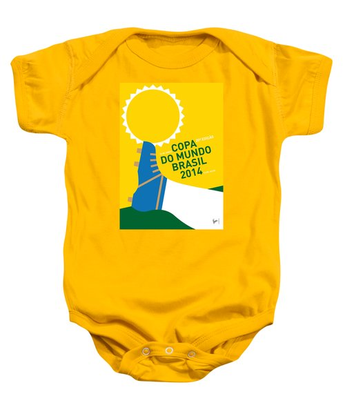 My 2014 World Cup Soccer Brazil - Rio Minimal Poster Baby Onesie