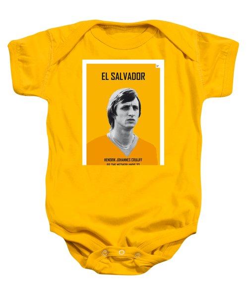 My Cruijff Soccer Legend Poster Baby Onesie