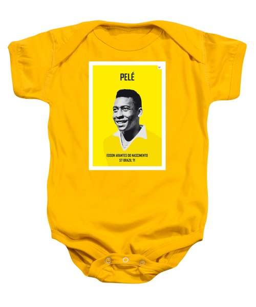 My Pele Soccer Legend Poster Baby Onesie by Chungkong Art