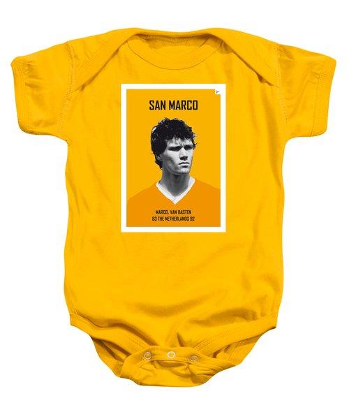 My Van Basten Soccer Legend Poster Baby Onesie
