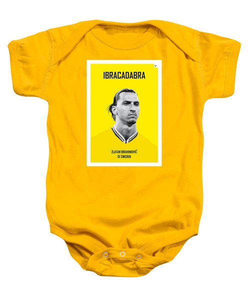My Zlatan Soccer Legend Poster Baby Onesie by Chungkong Art