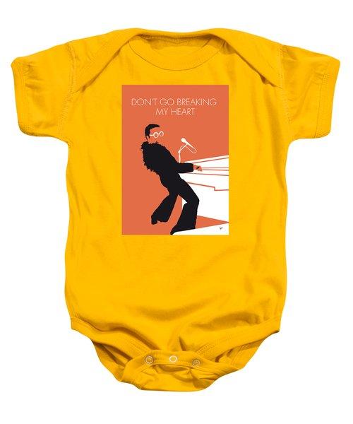 No053 My Elton John Minimal Music Poster Baby Onesie by Chungkong Art