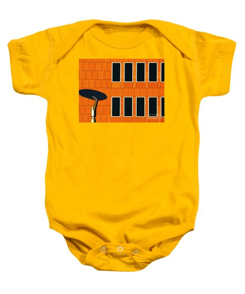 Office Black Out Baby Onesie