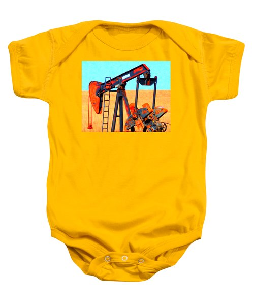 Oil Pump - Painterly Baby Onesie