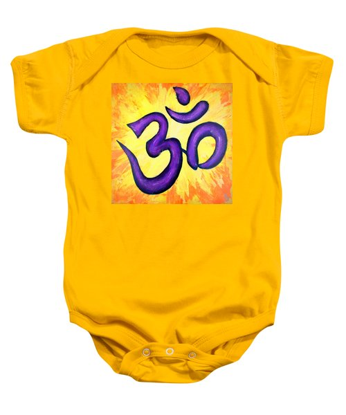 Om Symbol Art Painting Baby Onesie