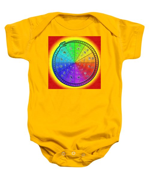 Ouroboros Alchemical Zodiac Baby Onesie