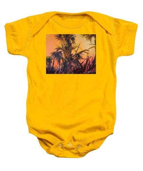 Palmettos At Dusk Baby Onesie