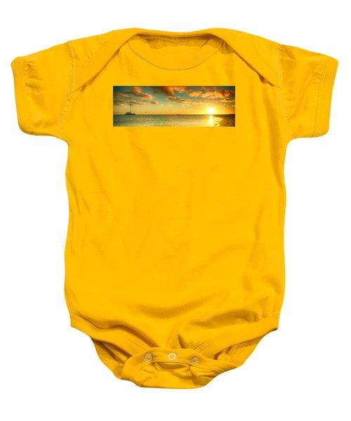 Panoramic Photo Sunrise At Monky Mia Baby Onesie