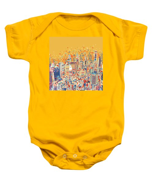 Philadelphia Panorama Pop Art Baby Onesie