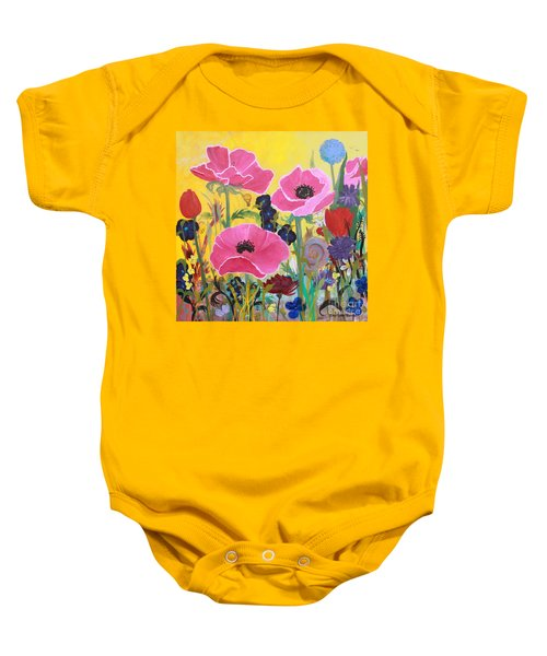Poppies And Time Traveler Baby Onesie