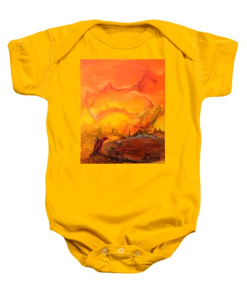 Post Nuclear Watering Hole Baby Onesie
