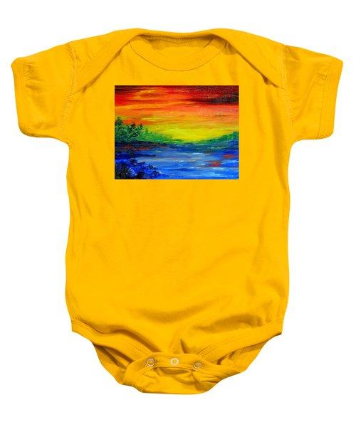Rainbow Back Waters Baby Onesie