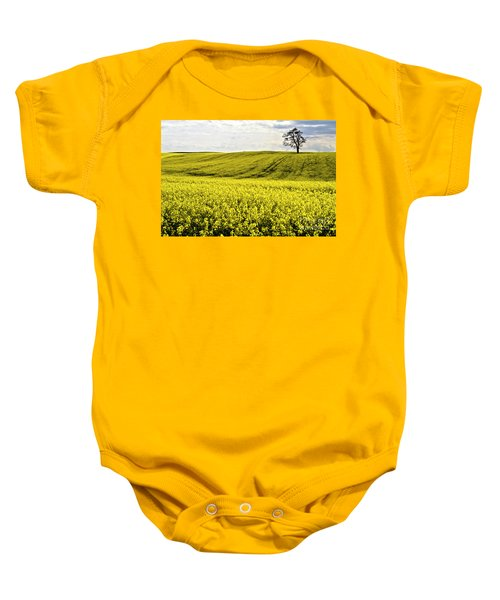Rape Landscape With Lonely Tree Baby Onesie