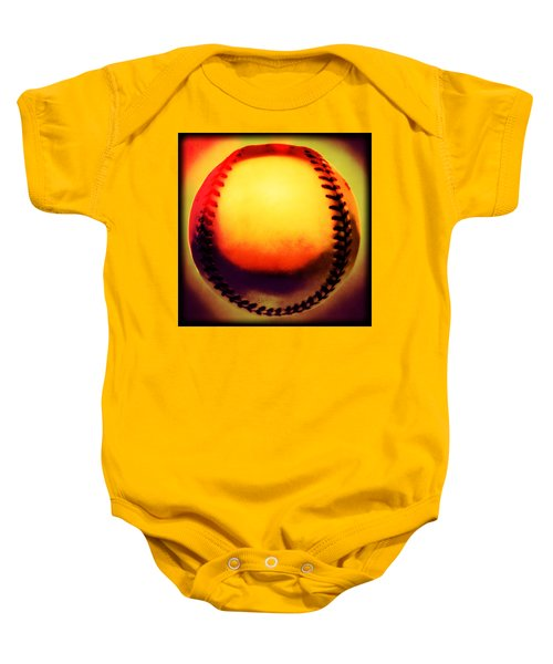 Red Hot Baseball Baby Onesie