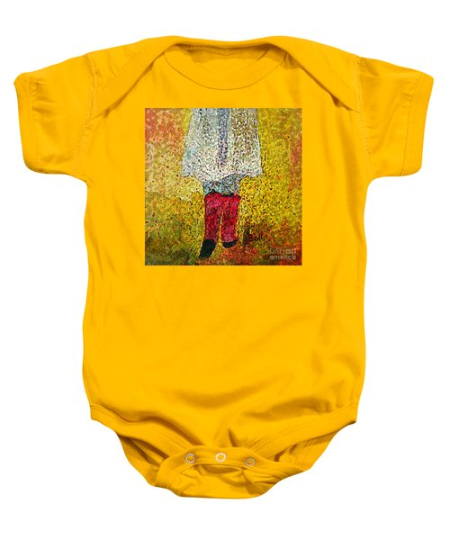 Red Rubber Boots Baby Onesie