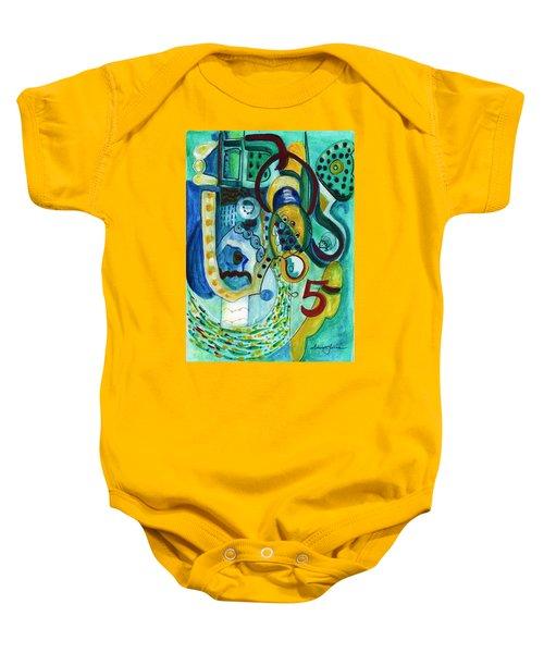 Reflective #5 Baby Onesie