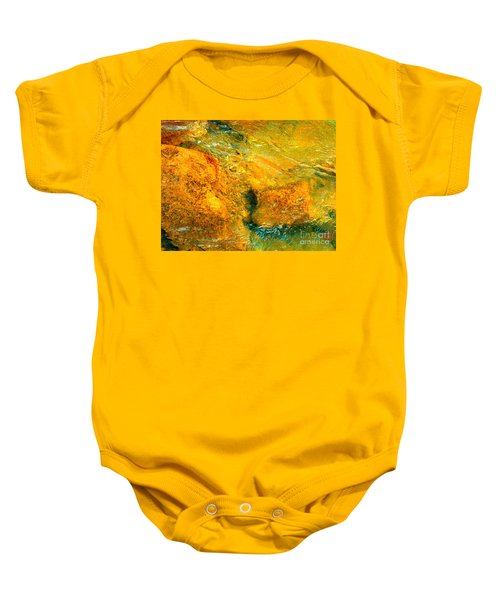 Rocks Under The Stream By Christopher Shellhammer Baby Onesie