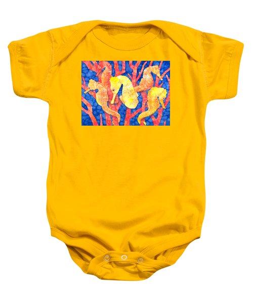 Seahorse Heaven Baby Onesie