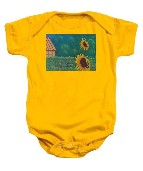 Sergi's Sunflowers Baby Onesie