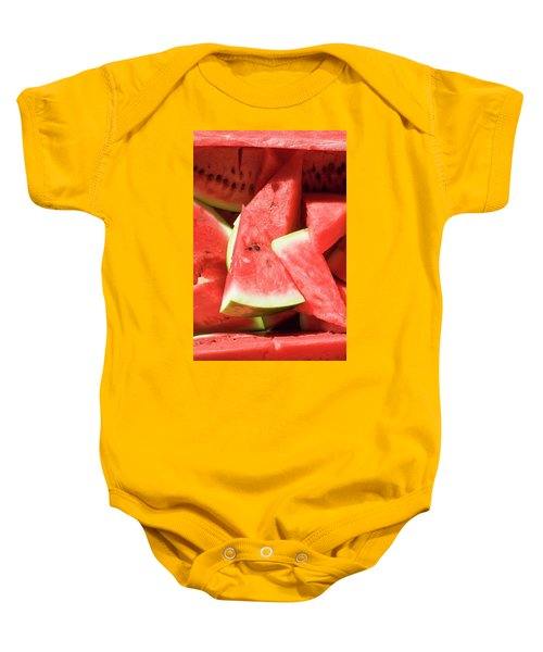 Several Pieces Of Watermelon Baby Onesie