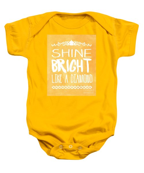 Shine Bright Orange Baby Onesie by Pati Photography