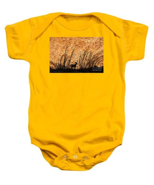 Silhouette Bighorn Sheep Baby Onesie