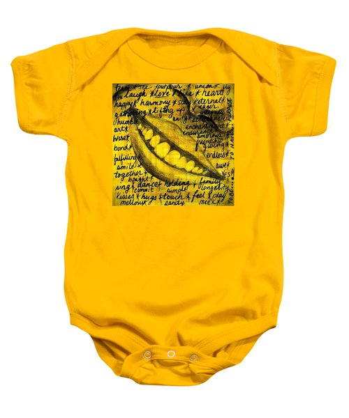 Simply Smile And Your Golden Virtues Will Be Written All Over You Baby Onesie