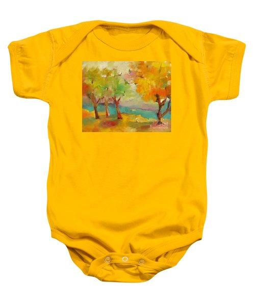 Soft Trees Baby Onesie