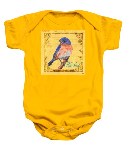 Colorful Songbirds 1 Baby Onesie