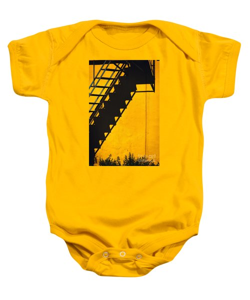 Baby Onesie featuring the photograph Staircase Shadow by Silvia Ganora