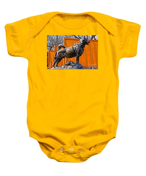 Statue Of Balto In Nyc Central Park Baby Onesie