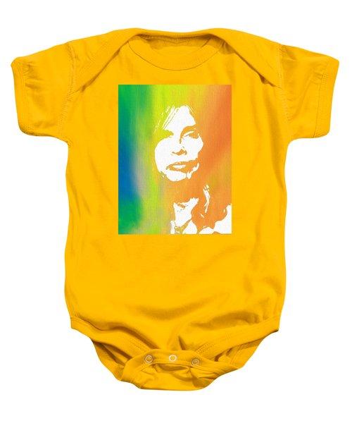 Steven Tyler Canvas Baby Onesie by Dan Sproul