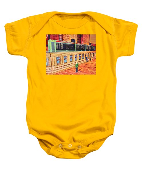 Sunday Am At Grand Central Baby Onesie
