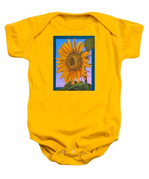 Da154 Sunflower By Daniel Adams Baby Onesie