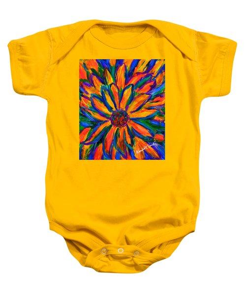 Sunflower Burst Baby Onesie