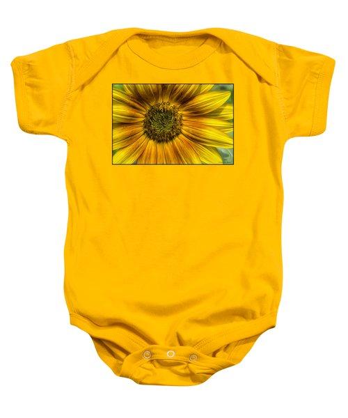 Sunflower In Oil Paint Baby Onesie