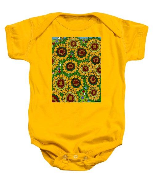 Sunflowers 2 Baby Onesie