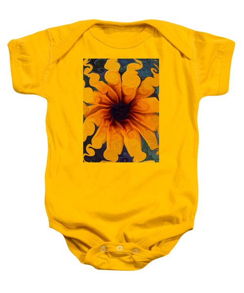 Sunflowers On Psychadelics Baby Onesie